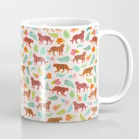 tigers Mugs featuring Tigers by Abby Galloway