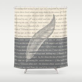ANNABEL LEE (Allan Poe) Shower Curtain