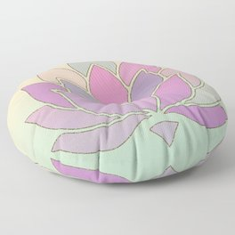 Lotus Flower Pastel Meditation Yoga Symbol Floor Pillow