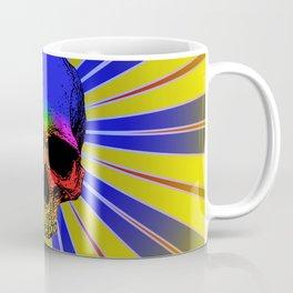 Pop art skull glow Coffee Mug