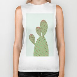Watercolor of cacti VI Biker Tank