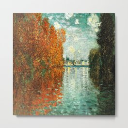 Monet : Autumn Effect at Argenteuil Metal Print
