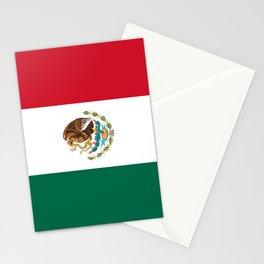 Flag of mexico- mexico,mexico city,mexicano,mexicana,latine,peso,spain,Guadalajara,Monterrey Stationery Cards