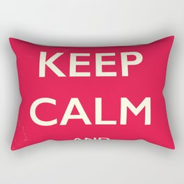 Keep calm and play Rectangular Pillow