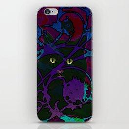 Art Nouveau Visible Cat iPhone Skin