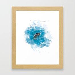 Lemurian Peninsula Framed Art Print