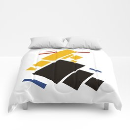 Geometric Abstract Malevic #11 Comforters