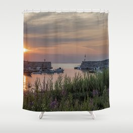 Lanes Cove Sunset 7-28-19 Shower Curtain