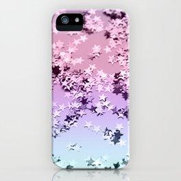 Unicorn Girls Glitter Stars #1 #shiny #pastel #decor #art #society6 iPhone Case