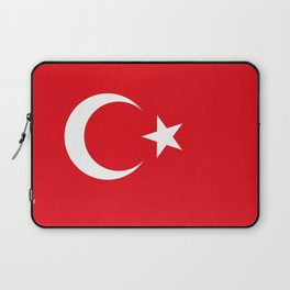 National flag of Turkey, Authentic color & scale Laptop Sleeve