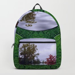one Island in a safe environment of eternity green Backpack