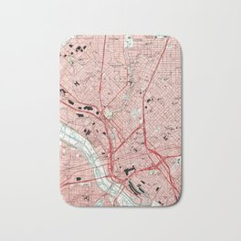 Dallas Texas Map (1995) Bath Mat