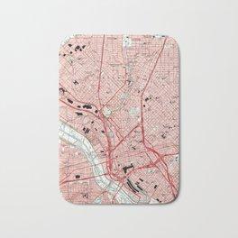 Dallas Texas Map (1995) Bath Mat