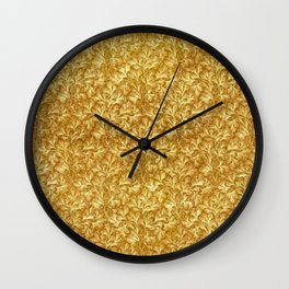 Vintage Floral Lace Leaf Yellow  Wall Clock