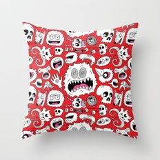 Another Monster Pattern Throw Pillow