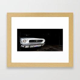 shark in the shadows Framed Art Print