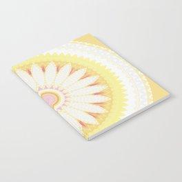 Sunshine Yellow Flower Mandala Abstract Notebook
