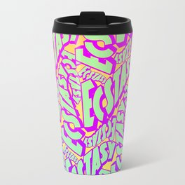 'Ecstacy' 70's Psych Poster Fade Pattern Travel Mug
