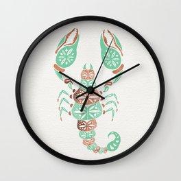 Scorpion – Mint & Rose Gold Wall Clock