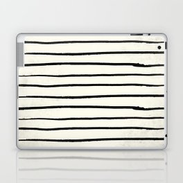 Horizontal Ivory Stripes II Laptop & iPad Skin