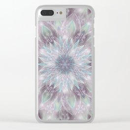Lavender swirl pattern Clear iPhone Case