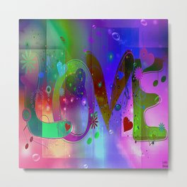 Where we love each other, it is never dark. Metal Print