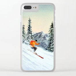 Skiing The Clear Leader Clear iPhone Case
