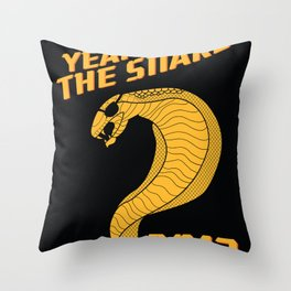 Year of the Escaped Snake Throw Pillow