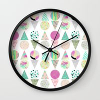psychedelic Wall Clocks featuring Psychedelic by Catalina Montaña