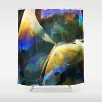 bubble Shower Curtains featuring Bubble by Lia Bernini