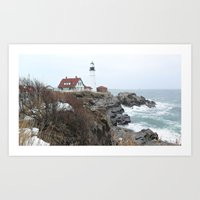 maine Art Prints featuring Maine  by L James M Arts