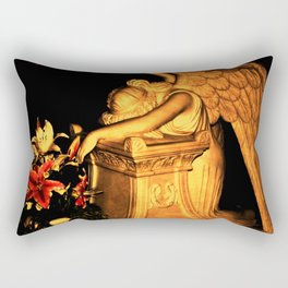 Night Angel dark Rectangular Pillow