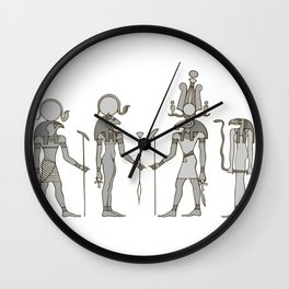 Gods of ancient Egypt Wall Clock