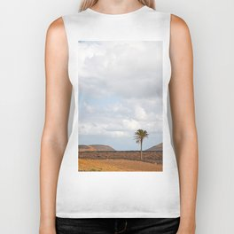 Lanzarote Palm tree landscape Biker Tank