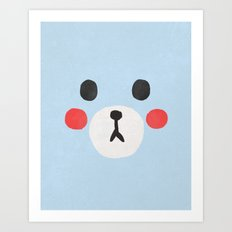Face IV (Bear) Art Print