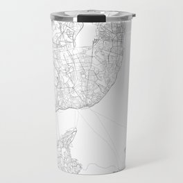 Lisbon, Portugal Minimalist Map Travel Mug