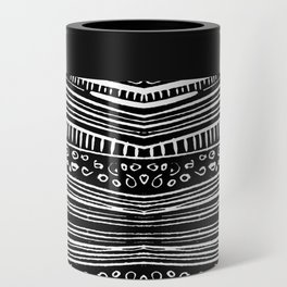 Linocut Tribal Pattern Can Cooler