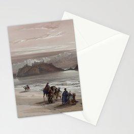 Isle of Graia Gulf of Akabah Arabia Petraea by David Roberts, 1839 Stationery Cards