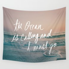 The Ocean is Calling by Laura Ruth and Leah Flores Wall Tapestry