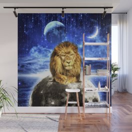 Grumpy Lion Wall Mural