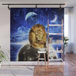Grumpy Lion Wall Mural