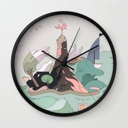 Windy Island Wall Clock