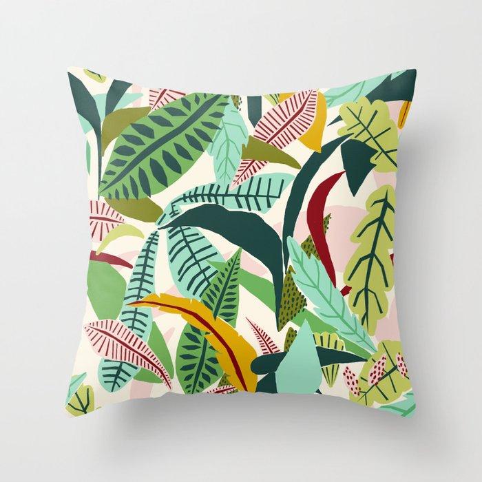 Naive Nature Throw Pillow