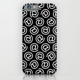 At Me Pattern (white on black version) iPhone Case