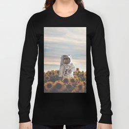The Sunflower Galaxy, Messier 63 Long Sleeve T-shirt