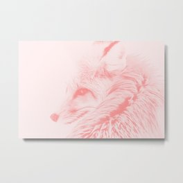 red fox digital acryl painting acrpw Metal Print
