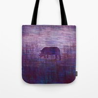 rhino Tote Bags featuring Rhino by Inmyfantasia