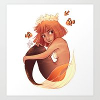 aries Art Prints featuring ARIES by Laia™
