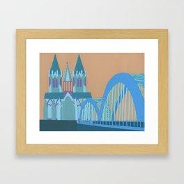 Hohenzollern Bridge Framed Art Print