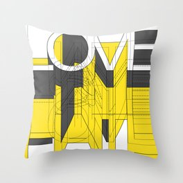 HATE LOVE Throw Pillow